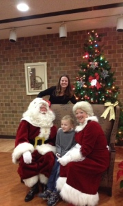 My son, Michael, gets to meet with Santa and Mrs. Claus!