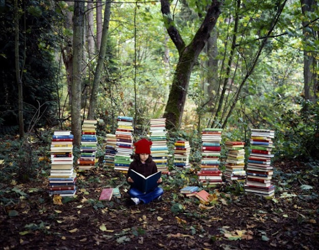 the-reader-in-woods